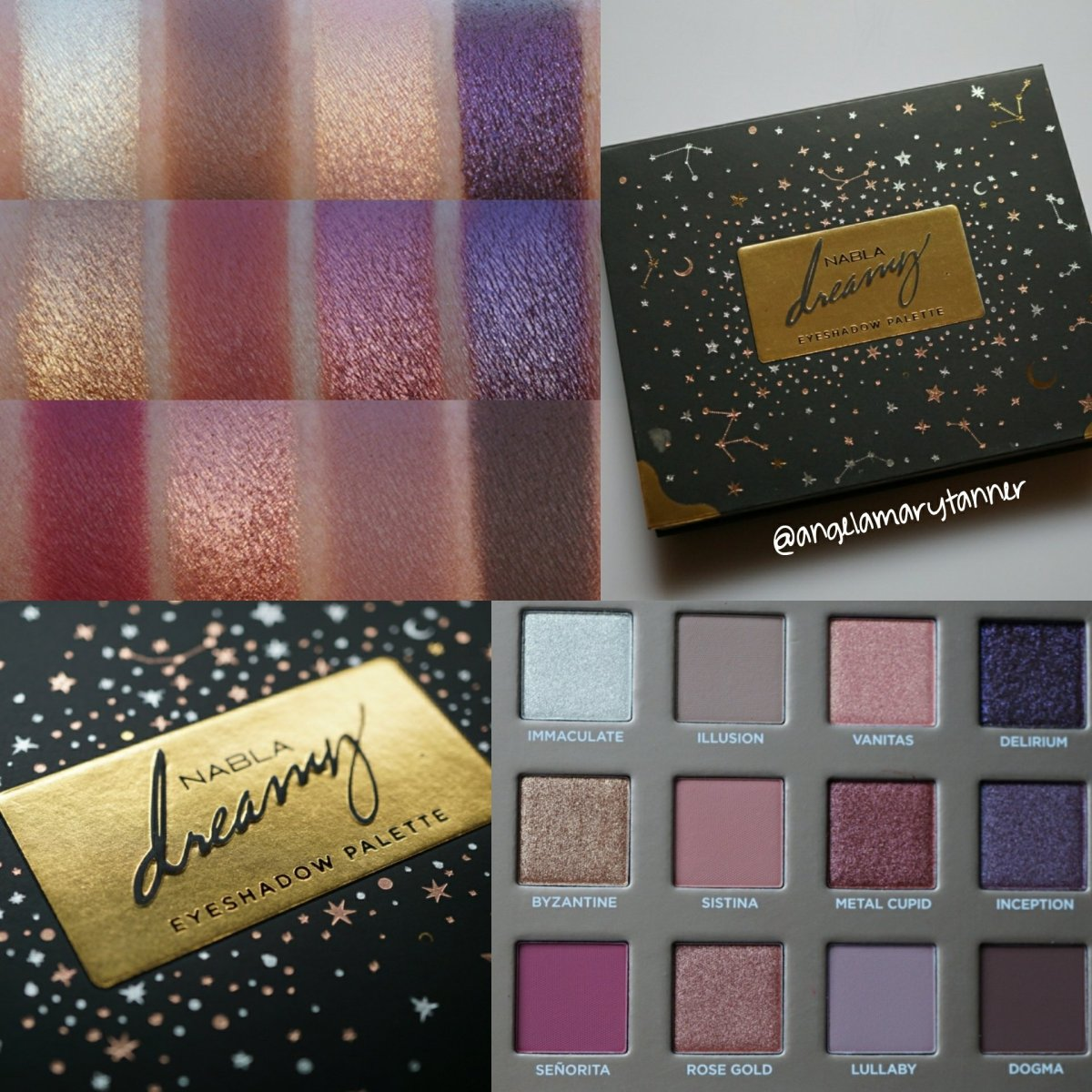 NABLA COSMETICS DREAMY EYESHADOW PALETTE REVIEW and