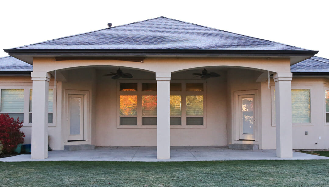 how to convert a back patio into