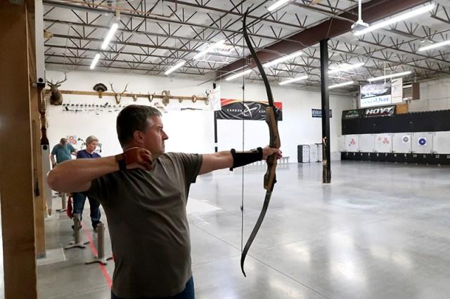 Chris having fired an arrow down range