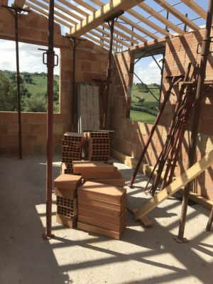 Emmas Room with Beams in Place at a new building site in Le Marche