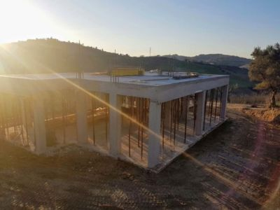 Front Area from Other Side at new house being constructed in Le Marche