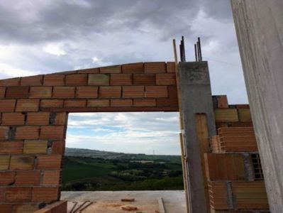Looking Out to Top Floor Terrazza of a new house in Le Marche