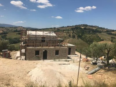 Our Building Site in Le Marche, Italy