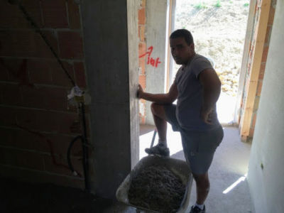 Out the Front Door of a new house being built in Le Marche