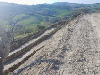 Preliminary Level Behind House being constructed in Le Marche