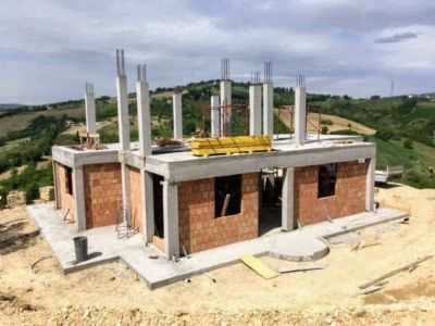 Project Overview of new house being constructed near Macerata, Le Marche