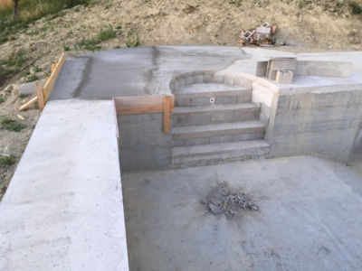 Shallow End of Pool at new house being built in Le Marche