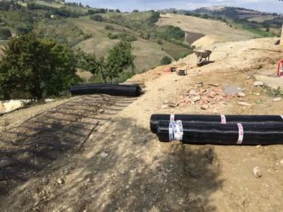 Terra Armata Material at the site of new construction in Marche