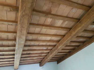 Top Floor Ceiling Closeup at a new house in Le Marche