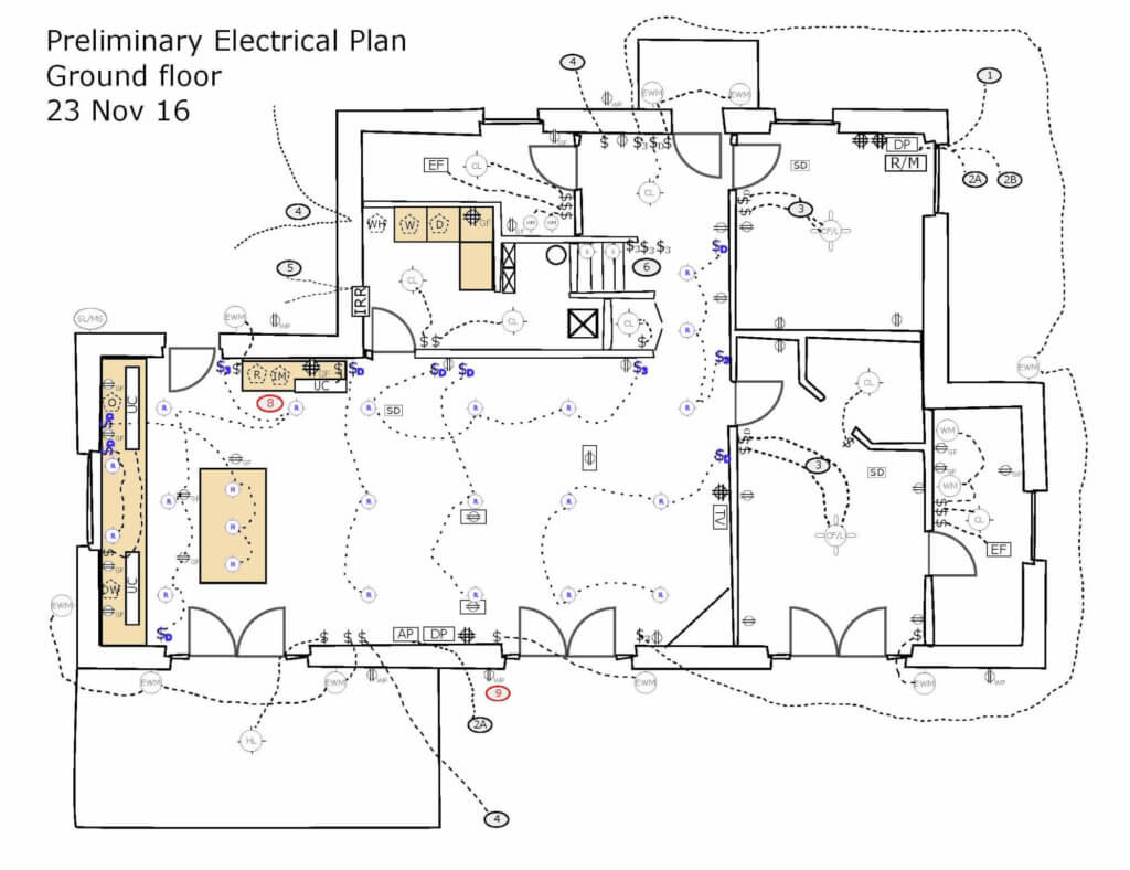 hight resolution of electrical plan for a new house in le marche
