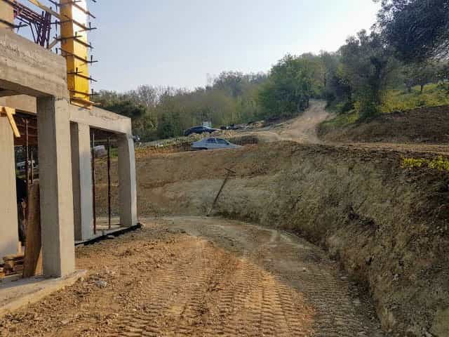 Grading around new house in Le Marche