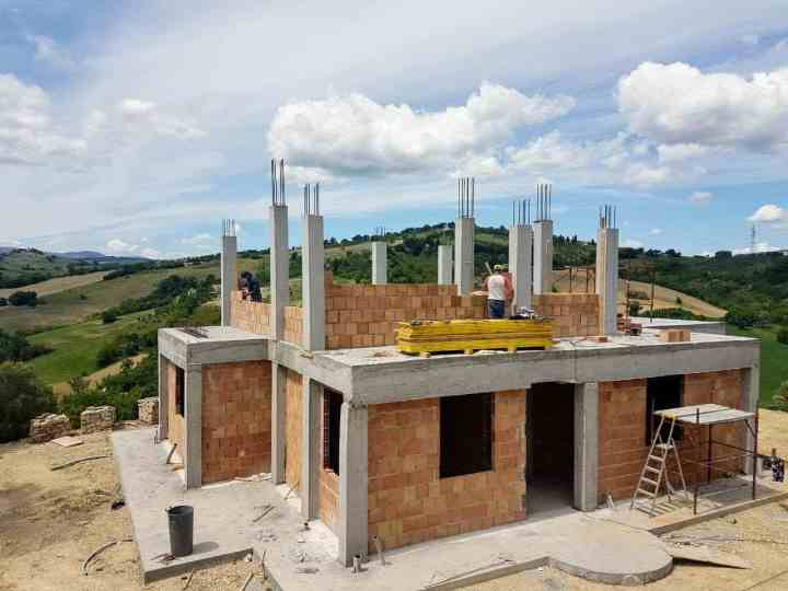 Casa Avventura Today being built in Le Marche