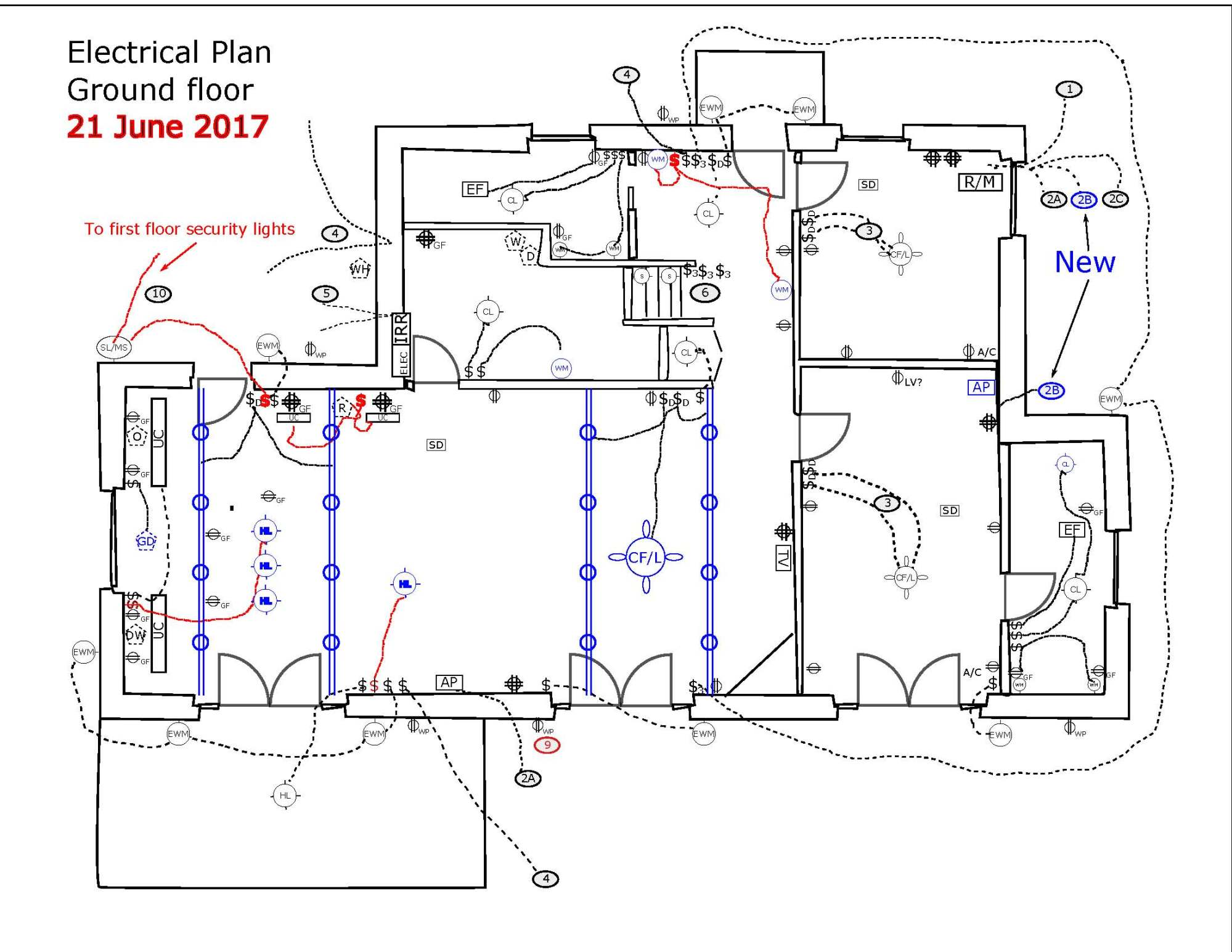 hight resolution of an electrical plan