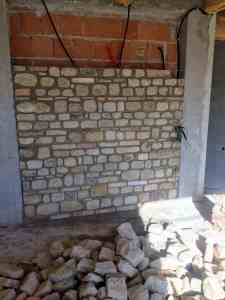 Interior Stone Wall Almost Done