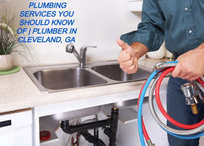 PLUMBING SERVICES YOU SHOULD KNOW OF | PLUMBER IN CLEVELAND, GA