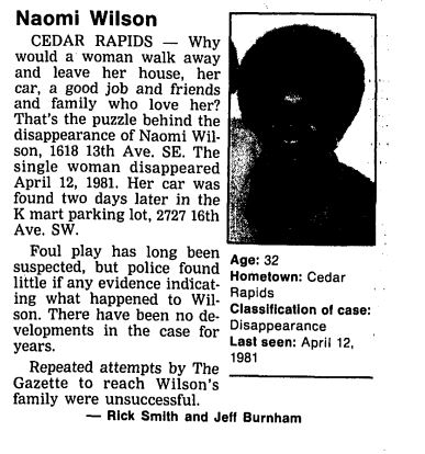 Naomi Wilson Missing 1