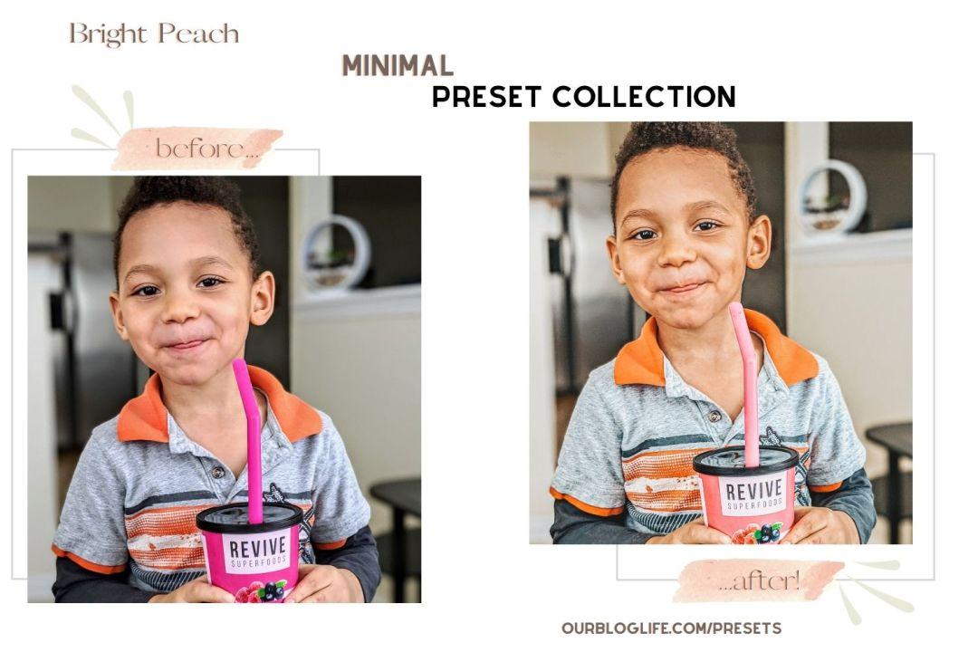 Bright Peach Preset Our Blog Life