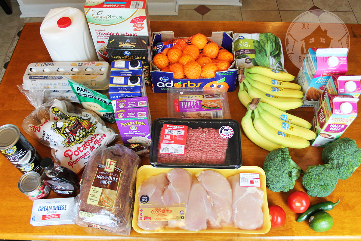 Budget Grocery Shopping On 60 A Week Our Brown House