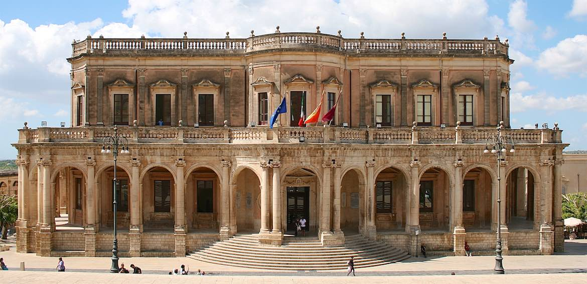 Noto's town hall.