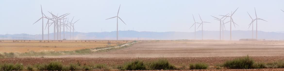 Wind farms near Belchite.