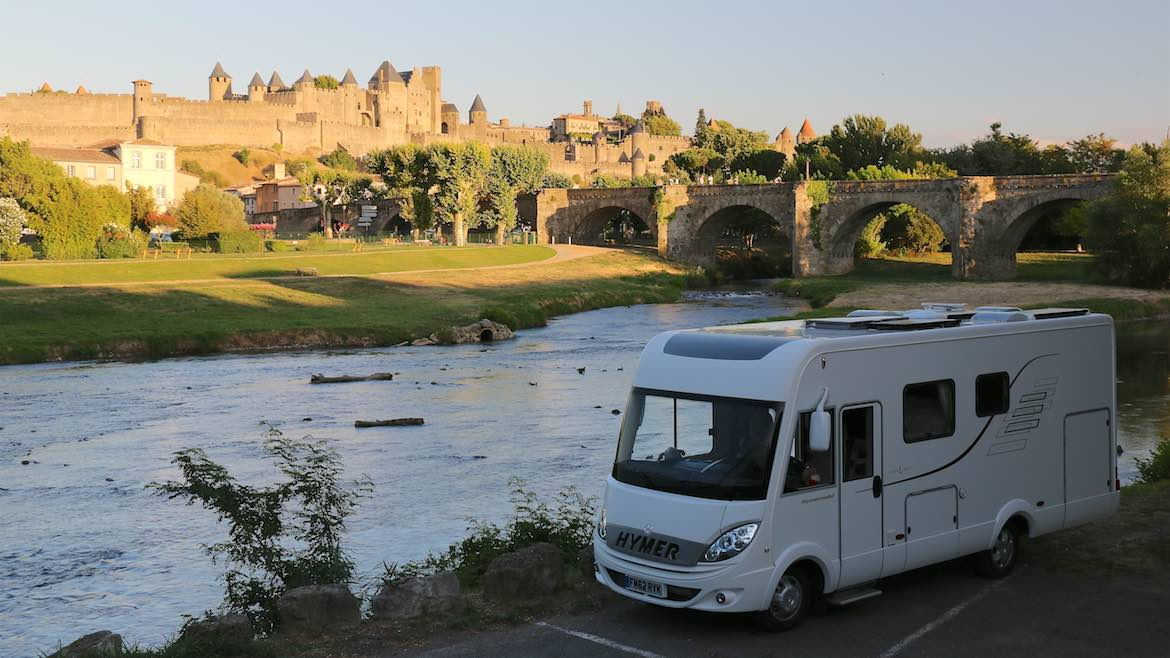 Best parking spot in Carcassonne.