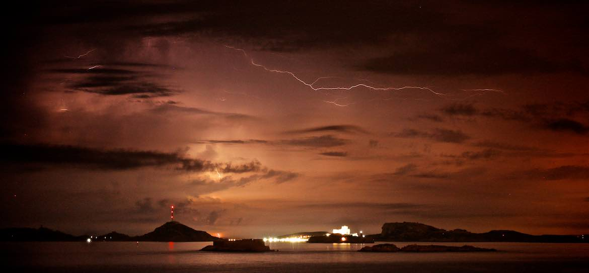 Electrical storm in Marseille.