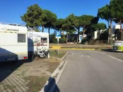 Parking spot in Comacchio.
