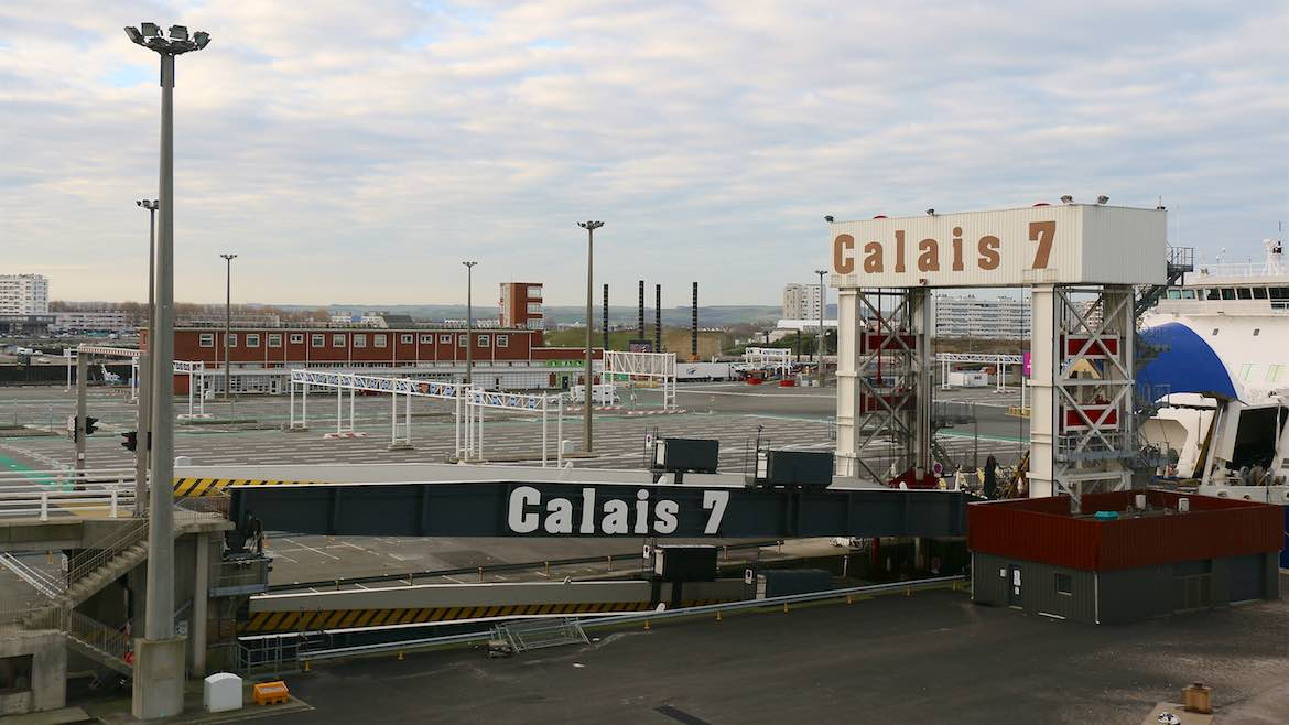 The port of Calais.