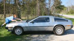 De Lorean & an awful pose