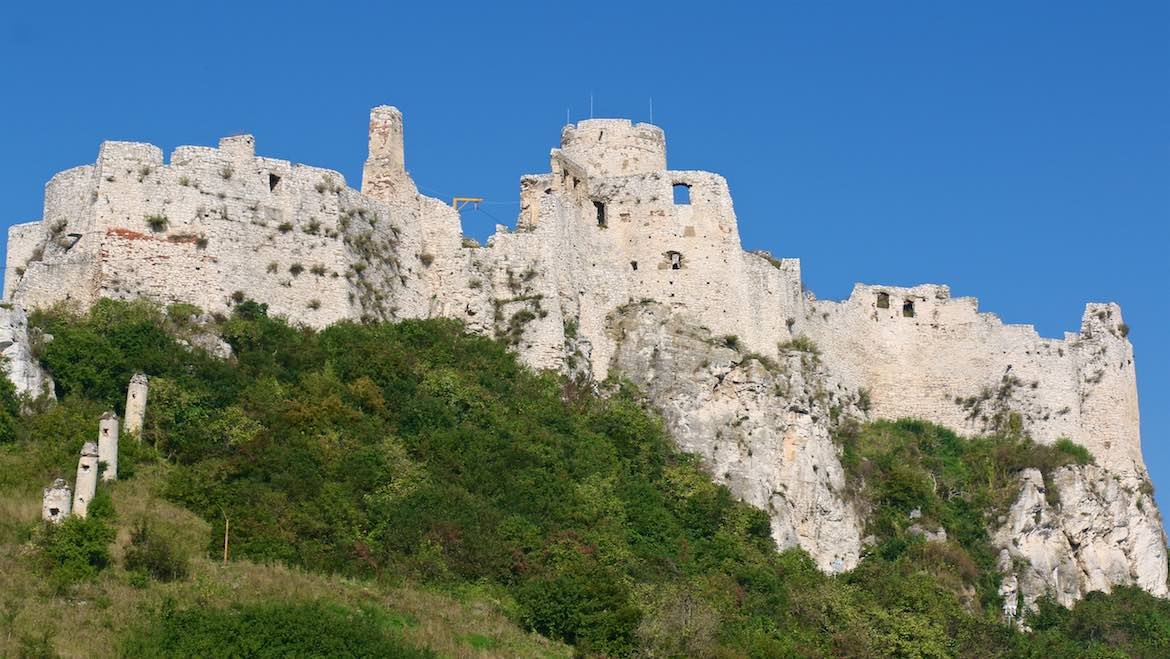 Spis Castle in the morning light