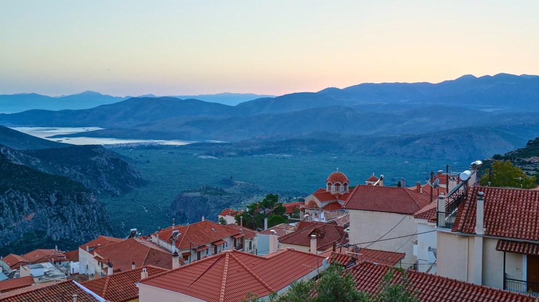 Delphi rooftops