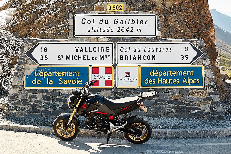 Honda MSX125 Col du Galibier