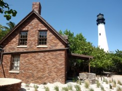 Brick caretaker's house and Cape Florida Lighthouse