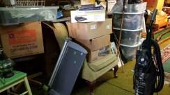 Furniture stored in attic