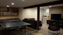 Family room created in the basement