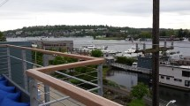 View of Lake Union for condo deck
