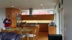Fir cabinetry in modern kitchen