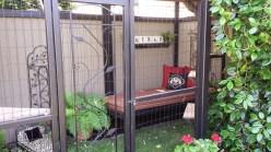 Lounge bed in garden catio