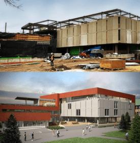 Tutt Library under construction