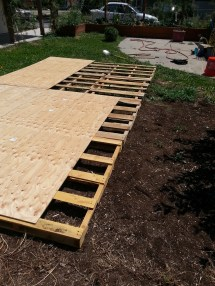 Creating Dance Floor Recycled Pallets