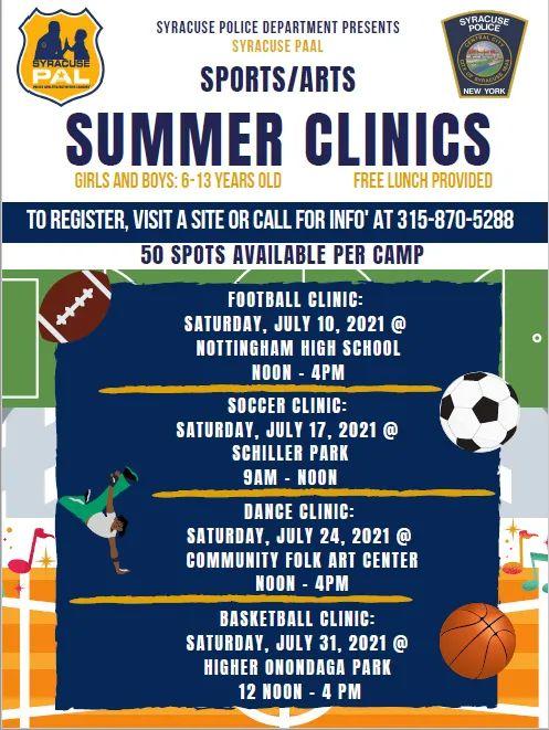 Syracuse PAL Summer Clinics Flyer