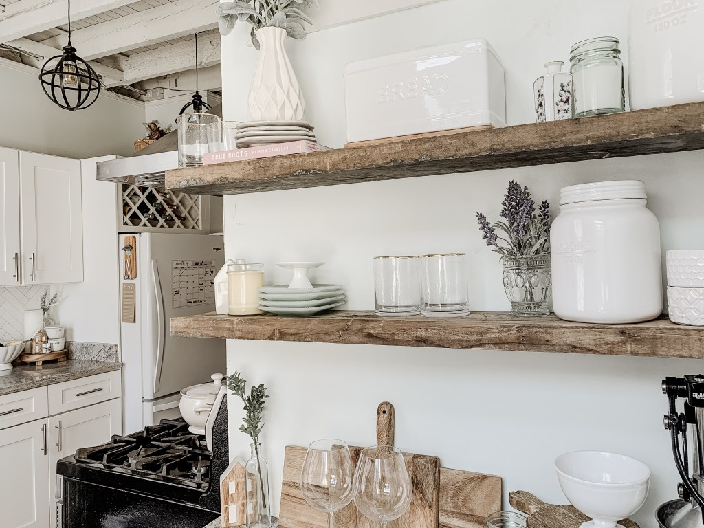 Diy Kitchen Floating Shelves Functional Styling Our City Nest