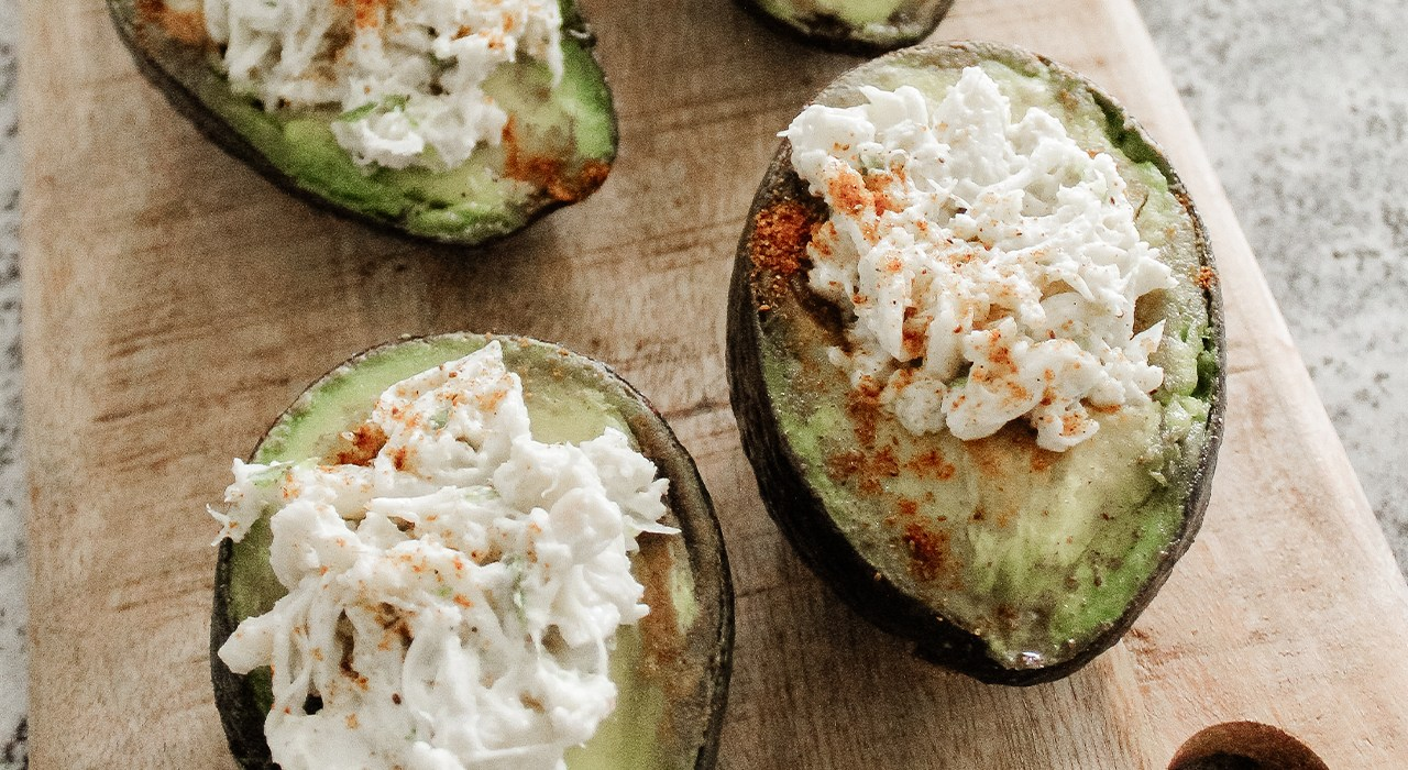 In the Kitchen: Charred Crab Stuffed Avocado