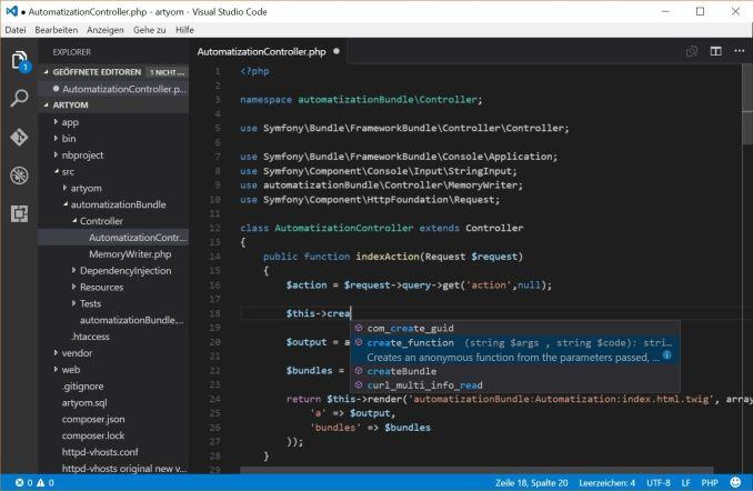 Visual studio code web IDE