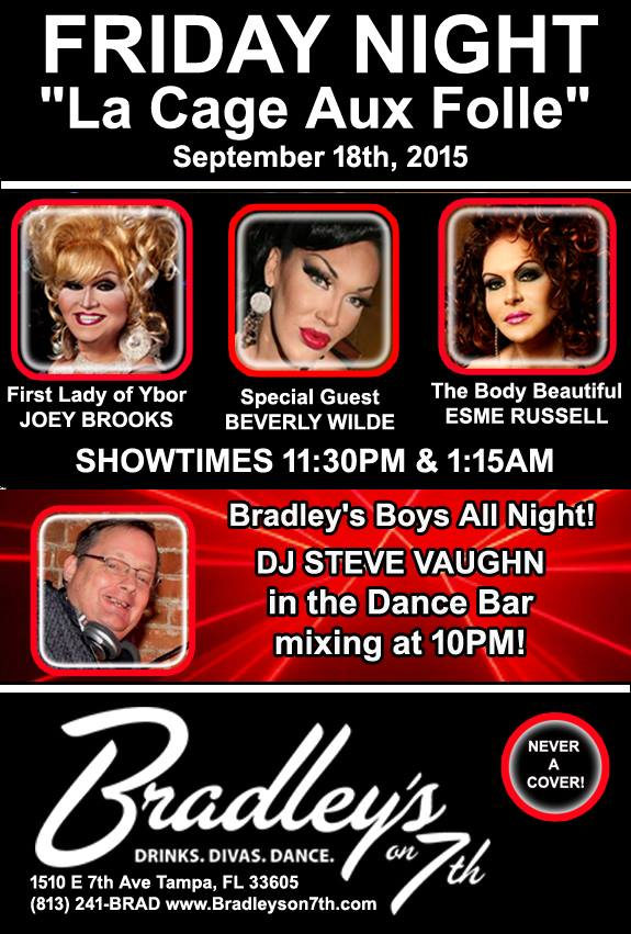 Show Ad | Bradley's on 7th (Tampa, Florida) | 9/18/2015