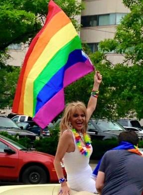 Amanada Kayne at the Dayton Gay Pride Parade.