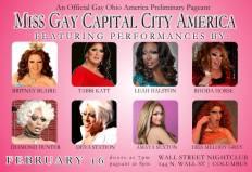 Miss Gay Capital City America 2014 | Wall Street Night Club (Columbus, Ohio) | 2/16/2014