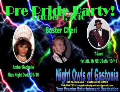 Show Ad   Night Owls Night Club (Gastonia, North Carolina)   10/1/2010