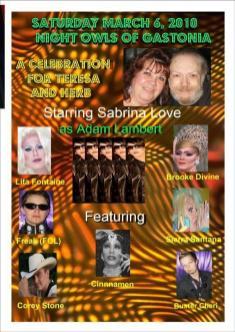 Show Ad | Night Owl Night Club (Gastonia, North Carolina) | 3/6/2010