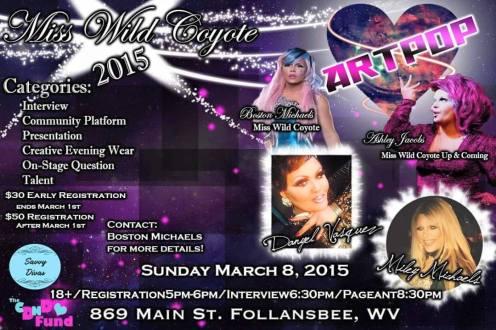 Show Ad | Wild Coyote (Follansbee, West Virginia) | 3/8/2015